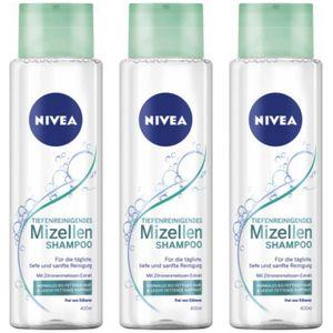 3 x Nivea Mizellen Shampoo Haarshampoo Tiefenreinigung 400ml