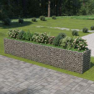 Gabionen-Hochbeet Garten-Hochbeet Hochbeet Verzinkter Stahl 540×90×100 cm