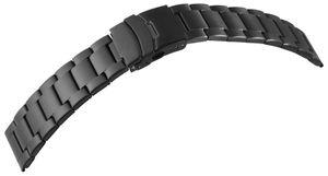 7daysin-Ersatzarmband Gliederarmband Edelstahl Faltschließe Stegbreite 8100092 Größe in mm: 22 mm