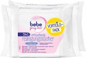 Bebe Young Care 50 Stück 5in1 Erfrischende Reinigungstücher für normale Haut