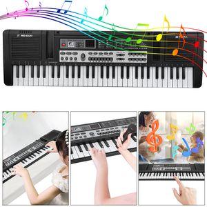 61 Tasten Digital Keyboard Tastatur Klavier E-Piano Kinder Geschenk Spielzeug DE
