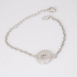 Andante Elegantes Silber Chunk ARMBAND (18 cm) für 1 Chunk Click-Button