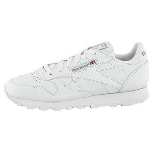 Reebok Classic Damen Sneaker Leder Weiß, Reebok Schuhe Damen:EUR 39 | UK 6 | US 8.5 | CM 25.5