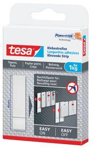 tesa Powerstrips Klebestreifen für Tapete/Putz transparent bis 1 kg (6 Stück)