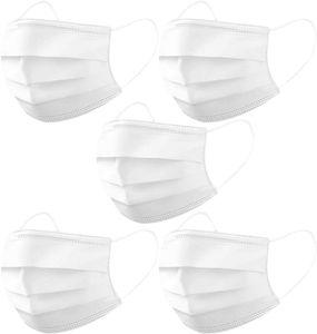 Einweg-Masken 50 Stück Anti-Staub-Schönheitsmaske Medizinische Maske Weiß