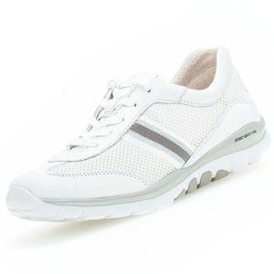 GABOR Rollingsoft Damen Sneaker Weiß, Schuhgröße:EUR 40.5