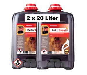 Petroleum Doppelpack Inhalt: 2x 20 L zum Heizen für Petroleumofen Heizofen