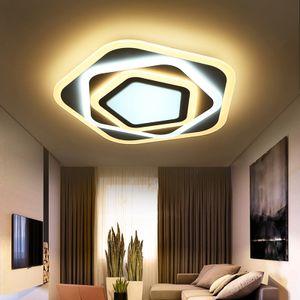 LED Deckenleuchte XW095 68W ∅50cm mit Fernbedienung Lichtfarbe/helligkeit einstellbar Acryl-Schirm A+,LED Wohnzimmerleuchte Kronleuchte Pendelleuchte Deckenlampe Deckenstrahler led Deckenleuchte