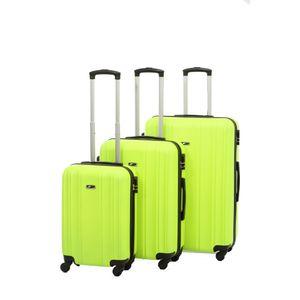 3 teiliges Kofferset DOHO Trolley Koffer Set aus ABS in verschiedenen Farben Grün