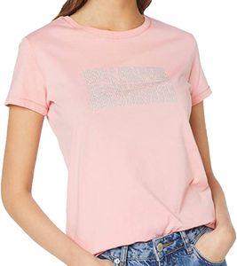 NAPAPIJRI Glitzer-Shirt funkelndes Damen Lifestyle-Shirt T-Shirt Sommer Rosa, Größe:L