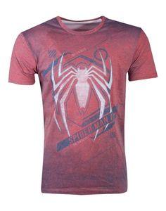 Marvel Spiderman Men's TShirt rot Acid Wash Spiderman XL