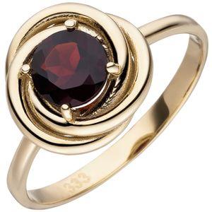 Damen Ring 333 Gold Gelbgold 1 Granat rot Granatring