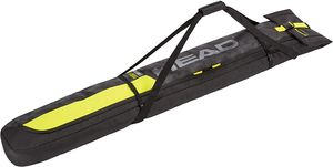 Head Double Ski Bag Ski Tasche 174 cm bis 194 cm für zwei Paar Ski schwarz gelb