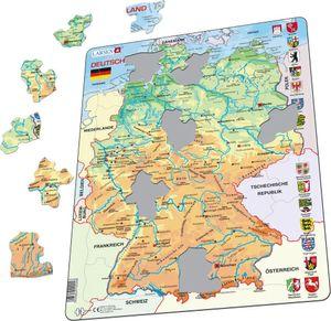 Larsen Puzzle Deutschlandkarte (topograhische Karte) 50-tlg.