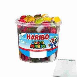 Haribo Super Mario Fruchtgummi (570g Runddose) + usy Block