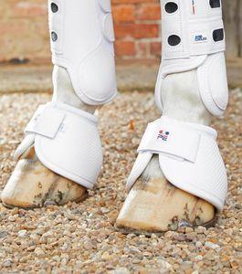 Premier Equine Hufglocken Carbon Tech Polyamid No-Turn Over Reach Boots white L