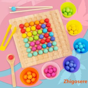 Holz Montessori Spielzeug Bunte Perlen Holz Clip Ball Spiel Kinder Lernspiel Interaktives Spielzeug