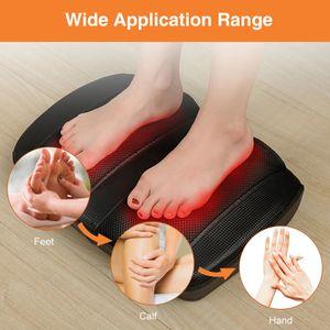 Fußmassagegerät mit Wohltuender Hitze Shiatsu Elektrisches Fussmassagegerät für Plantarfasziitis,Eingebaute Infrarot-Wärmefunktion und Netzkabel
