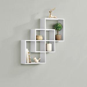 [en.casa] Wandregal Weiß matt Retro-Design