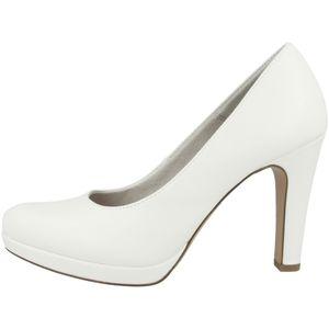 Tamaris Damen Pumps Plateau High Heel 1-22426-26, Größe:37 EU, Farbe:Weiß