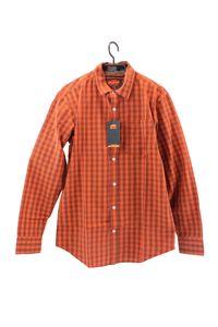 KTM Männer Hemd orange kariert mit Kontraststoff an Manschetten und Kragen in Größe S, M, L, XL, XXL, Größe:XL