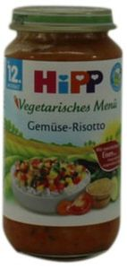 HiPP Menüs ab 1 Jahr,  Gemüse-Risotto, DE-ÖKO-037 - VE 250g