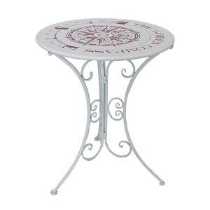 Tisch Gartentisch Beistelltisch Kaffeetisch Tisch Garten Metall Eisen Ø 60 cm