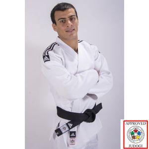 Abverkauf Adidas Slim Fit Champion II IJF Judo Gi Weiss - Körpergröße: 175 cm