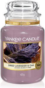 Yankee Candle Dried Lavender and Oak große Duftkerze im Glas (623g)
