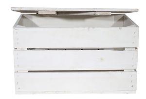 2x Truhe Couchtisch in weiß mit Deckel / NEU / 48x36x28 cm / leicht Decken, Zeitung, Bücher verstauen