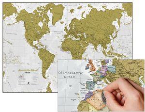 weltkarte Scratch the World Englisch