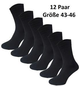 Garcia Pescara 12 Paar Classic Socken Strümpfe aus Baumwolle in schwarz Größe 43-46