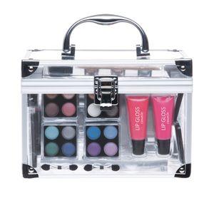 Kosmetikkoffer mit Alu und Klarsichtseiten