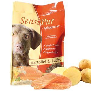 SensiPur ist ein optimales glutenfreies und hypoallergenes Alleinfutter für adulte Hunde ca 12 kg