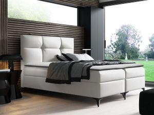Mirjan24 Boxspringbett Figaro, Stilvoll Polsterbett, zwei Bettkästen, Doppelbett (Farbe: Soft 017, Größe: 180x200 cm)