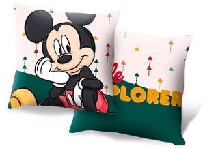 Disney kissen Mickey Mouse junior 40 cm Polyester weiß/grün