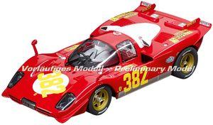 Carrera rennwagen Digital 124 Ferrari 512S BB Nr.382 1:32 rot