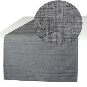 OUTDOOR Tischläufer GRAU 40x140 cm Fleckschutz Abwischbar Garten Küche