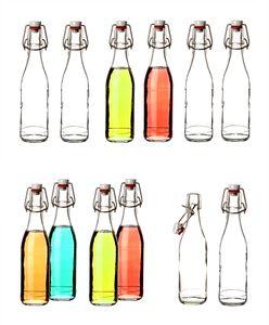 12x Glasflaschen mit Porzellan-Verschluss 330ml -  Germany - Bügelflaschen Einmachflaschen