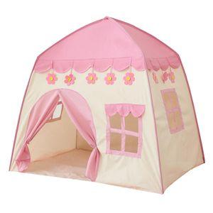 Kinder Spielen Zelt Indoor Rollenspiel Toy Pop Up Castle Zelte Für Baby Pink Rosa 130 x 100 x 130 cm Zelt spielen