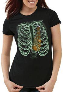 style3 Bierflasche X-Ray Damen T-Shirt hopfen malz papa röntgen, Größe:XS