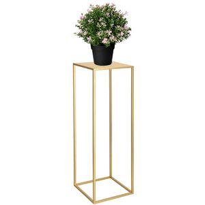 Modern Blumenständer Metall Blumensäule Gold 80 cm