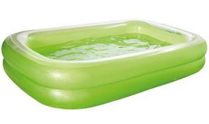 Wehncke aufblasbarer Pool 262 x 175 cm transparent/grün