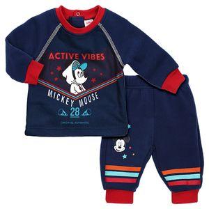 Disney Baby Jungen Set Longsleeve Hose Mickey Mouse anthrazit Active Vibes 62 (0-3 Monate)