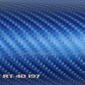 (6,57€/m²) Rapid Teck® 4D Carbon Folie Glanz Blau Autofolie 152 cm Breite Laufmeterware selbstklebende Folie mit Luftkanälen Auto Folie Carbonfolie Hologramm