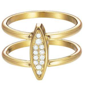 Esprit Damen Ring esprit-jw50031 Gold Edelstahl Zirkonia 56 (17.8)