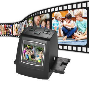 Film Scanner Hochauflösender 14MP / 22MP Film Slide Scanner Wandeln Sie 35mm 135mm 126mm 110mm 8mm Farb-Monochrom-Diafilm Negativ in ein digitales Bild mit 2,4 Zoll LCD-Display um
