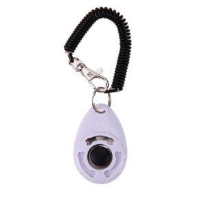 Hundeklicker Training Clicker Klicker Clickertraining für Hunde Katzen Haustier Armband Farbe Weiß