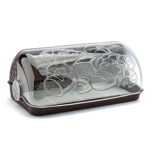 BROTKASTEN Kunststoff Brotkorb Brotbox ROLLBROTKASTEN Brotbehälter Brotkiste