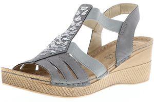 Vista Damen Sandaletten grau, Größe:42, Farbe:Grau